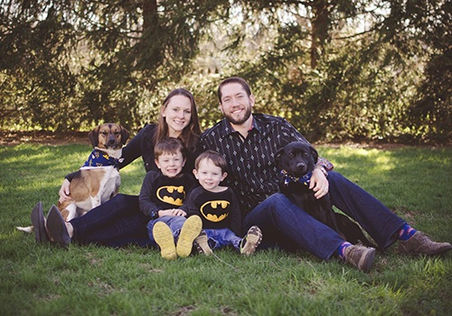 Dr. DeHart and his family