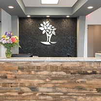 Welcoming Arlington Heights dental office reception desk