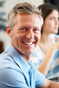 Arlington Heights Dental Implants Elderly man smiling