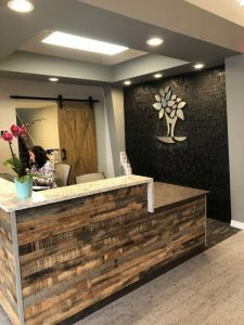 The front desk at Costello Dental's new location.